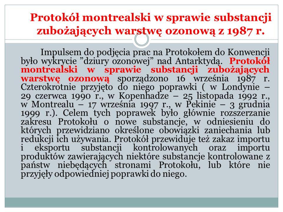 Protokół montrealski w sprawie substancji zubożających warstwę ozonową z 1987 r.