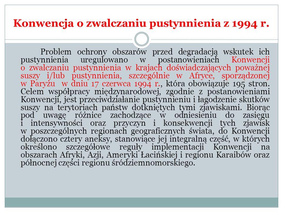 Konwencja o zwalczaniu pustynnienia z 1994 r.