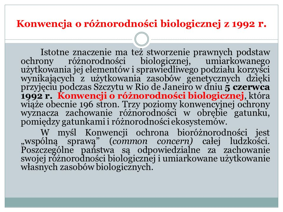 Konwencja o różnorodności biologicznej z 1992 r.