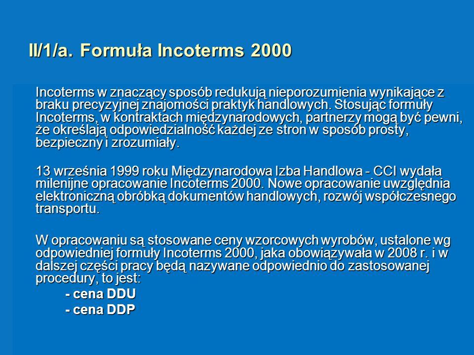 II/1/a. Formuła Incoterms 2000