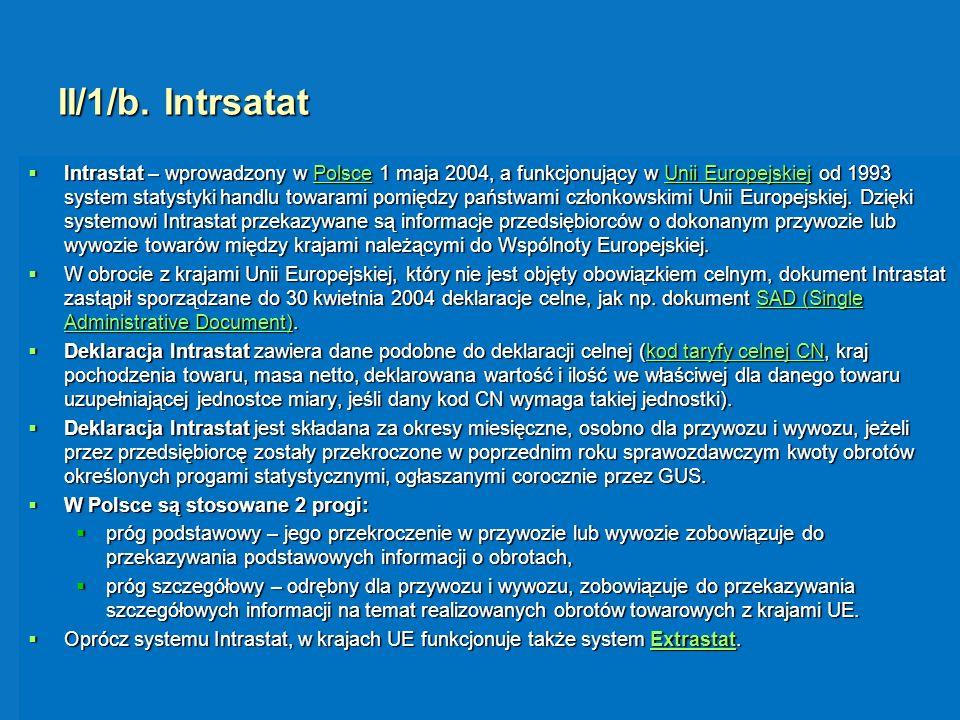 II/1/b. Intrsatat
