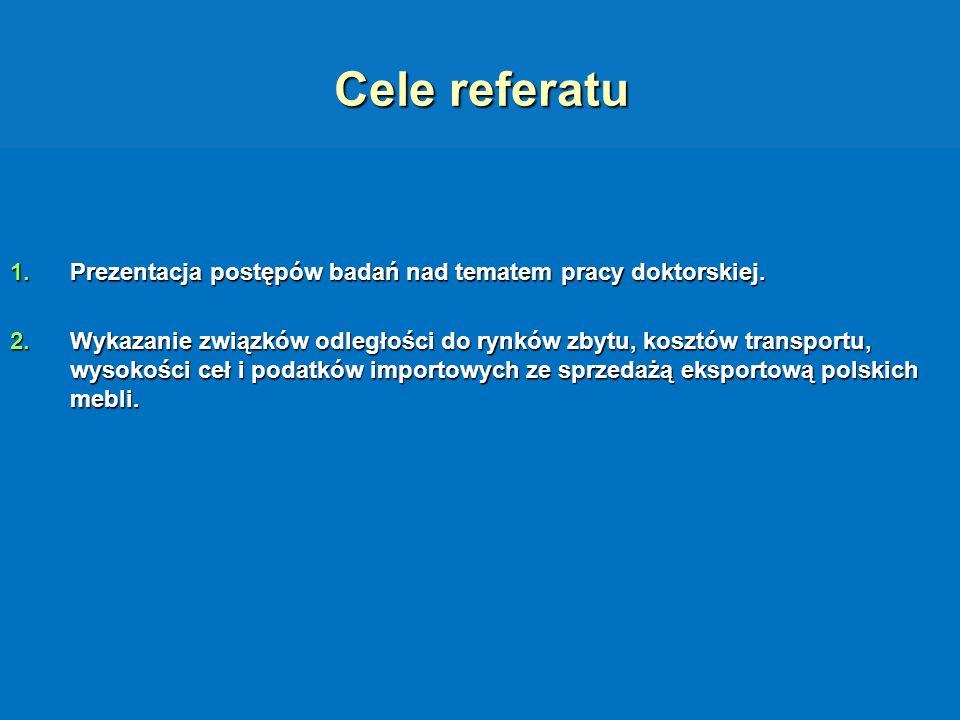 Cele referatu Prezentacja postępów badań nad tematem pracy doktorskiej.