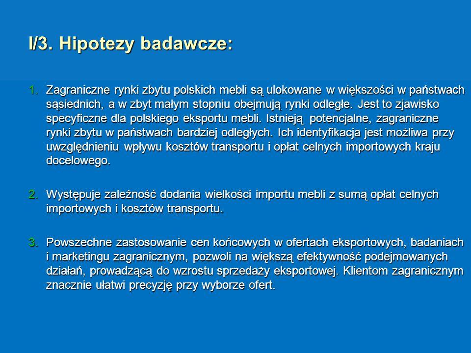 I/3. Hipotezy badawcze: