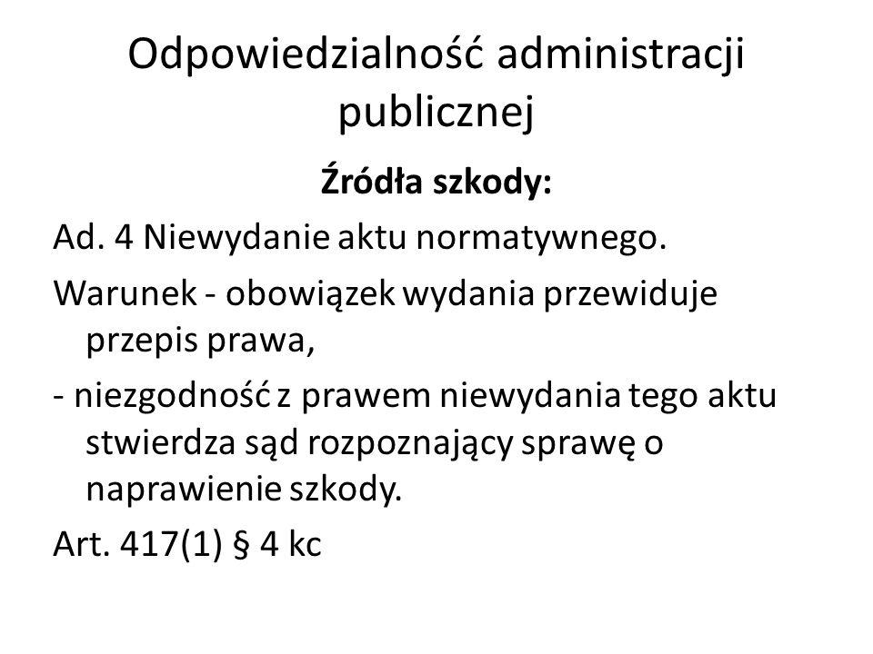 Odpowiedzialność administracji publicznej