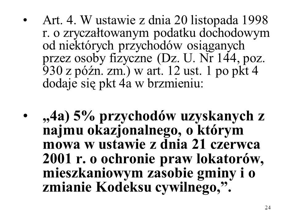 Art. 4. W ustawie z dnia 20 listopada 1998 r