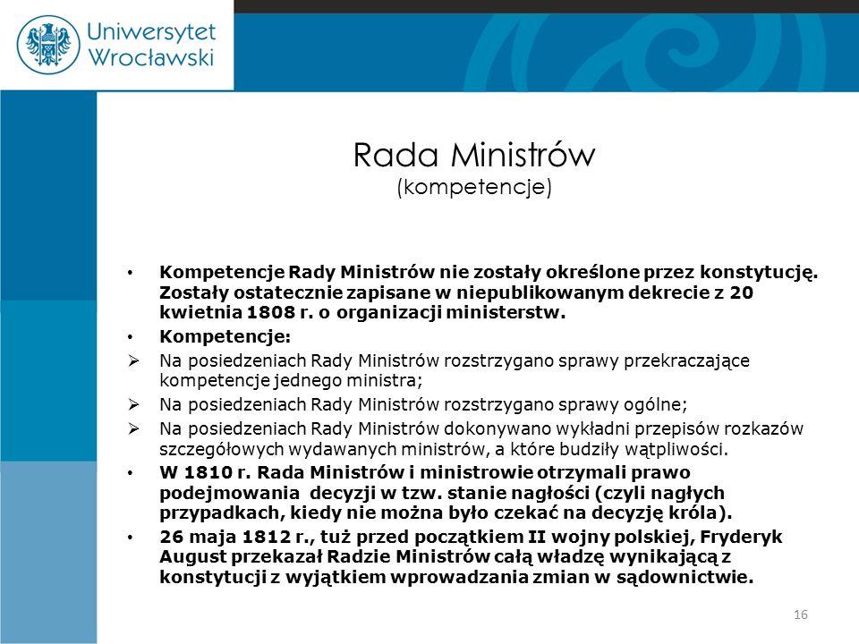 Rada Ministrów (kompetencje)