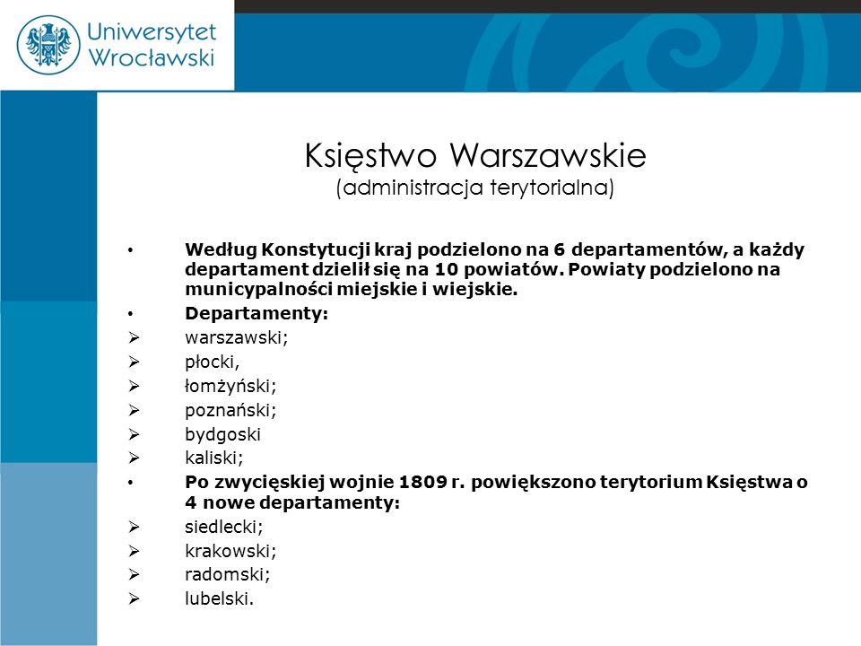 Księstwo Warszawskie (administracja terytorialna)