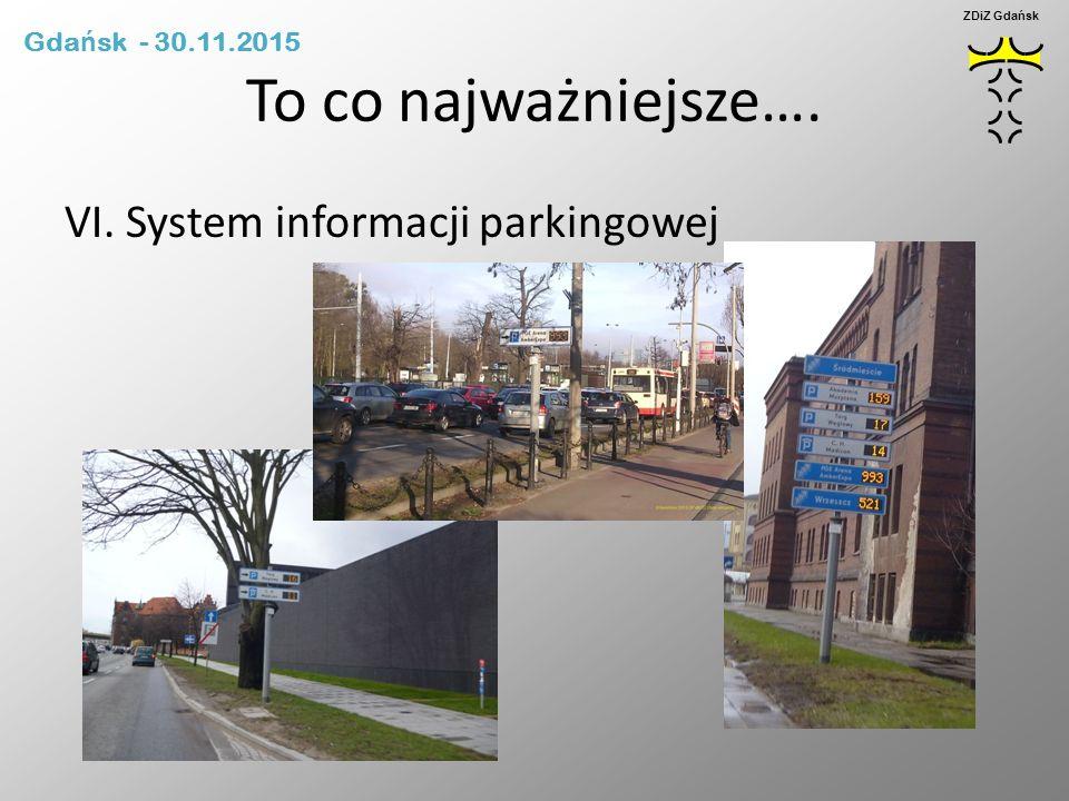 To co najważniejsze…. VI. System informacji parkingowej