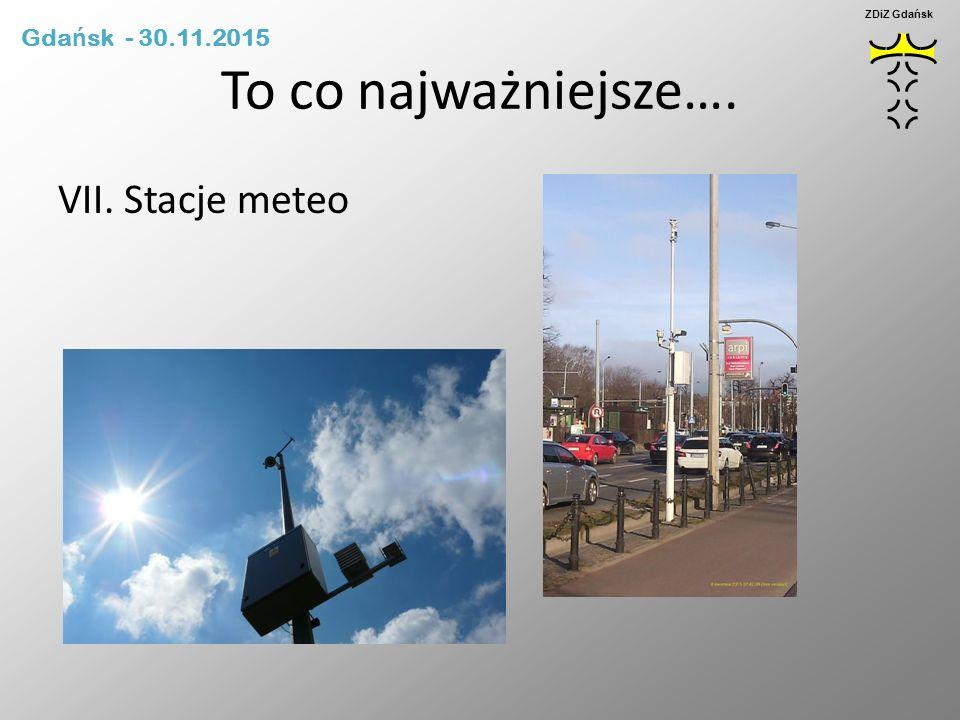 To co najważniejsze…. VII. Stacje meteo Gdańsk - 30.11.2015