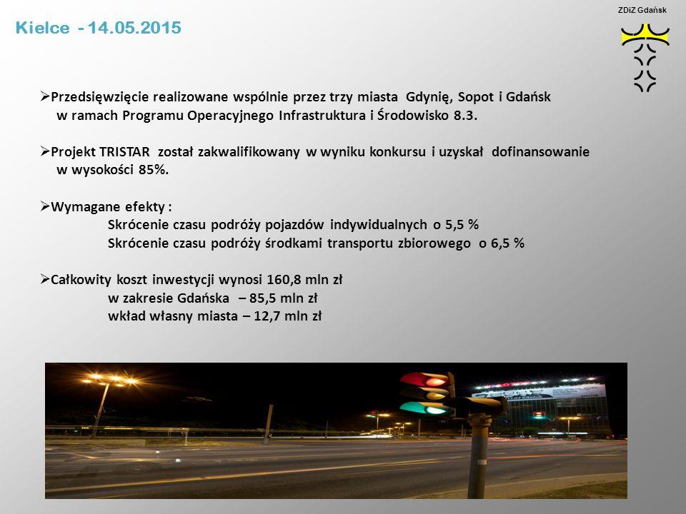 Kielce - 14.05.2015 ZDiZ Gdańsk. Przedsięwzięcie realizowane wspólnie przez trzy miasta Gdynię, Sopot i Gdańsk.
