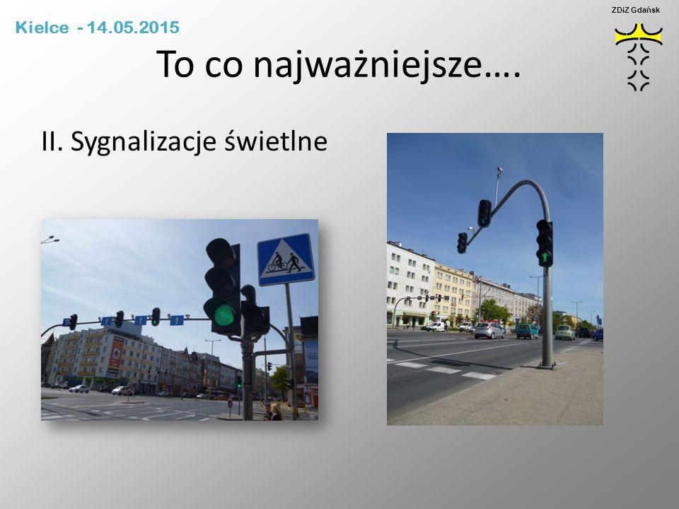 To co najważniejsze…. II. Sygnalizacje świetlne Kielce - 14.05.2015