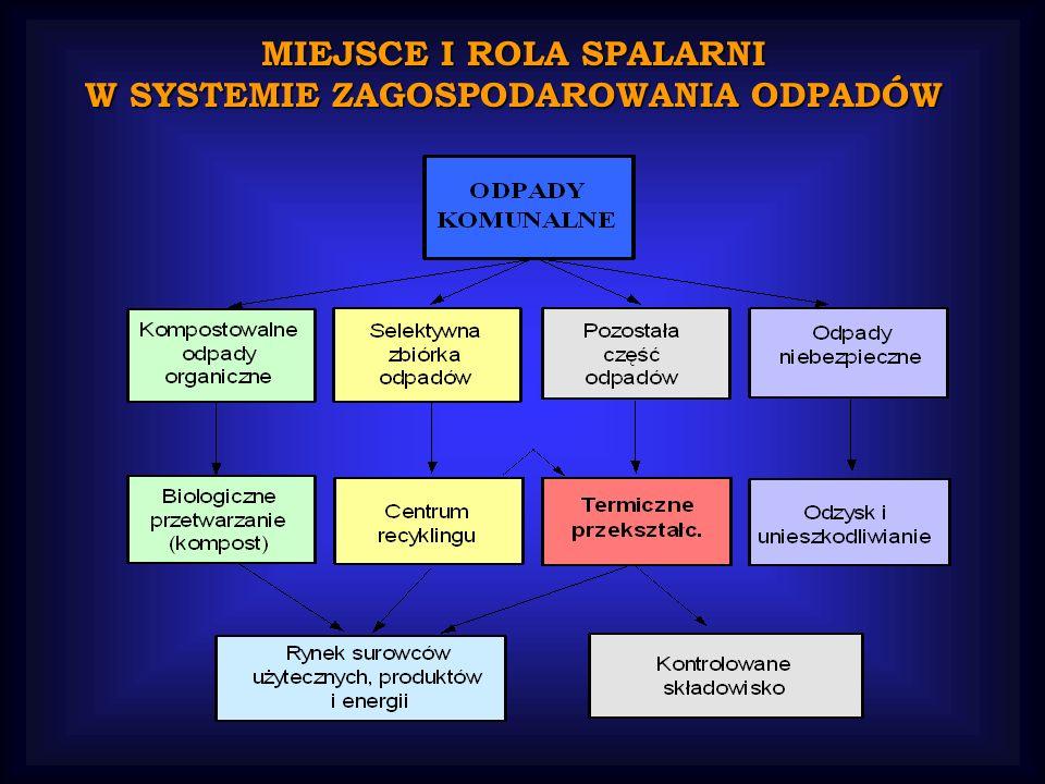 MIEJSCE I ROLA SPALARNI W SYSTEMIE ZAGOSPODAROWANIA ODPADÓW