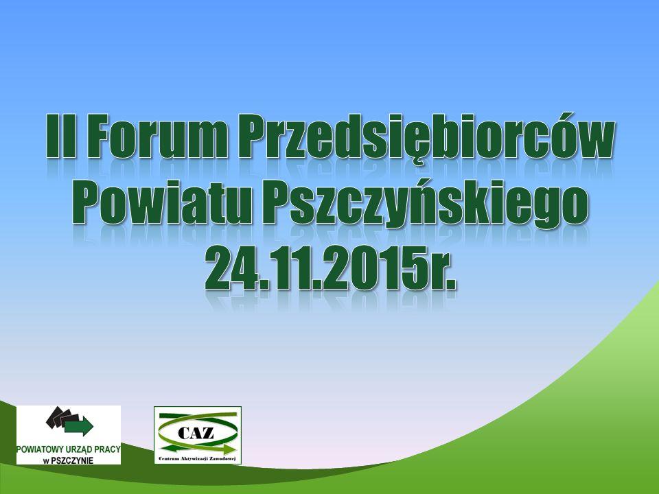 II Forum Przedsiębiorców Powiatu Pszczyńskiego 24.11.2015r.