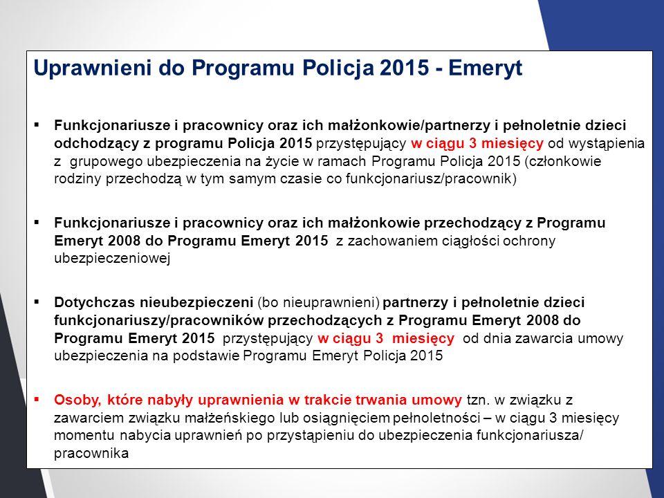 Uprawnieni do Programu Policja 2015 - Emeryt