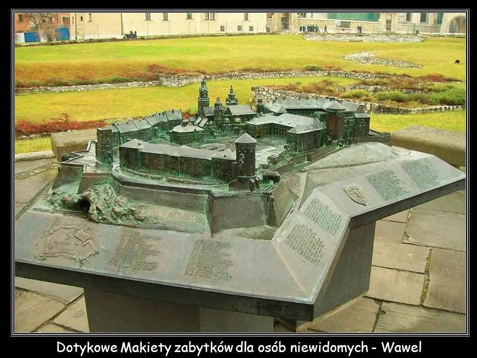 Dotykowe Makiety zabytków dla osób niewidomych - Wawel