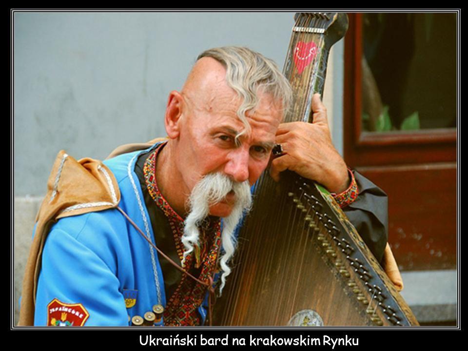 Ukraiński bard na krakowskim Rynku