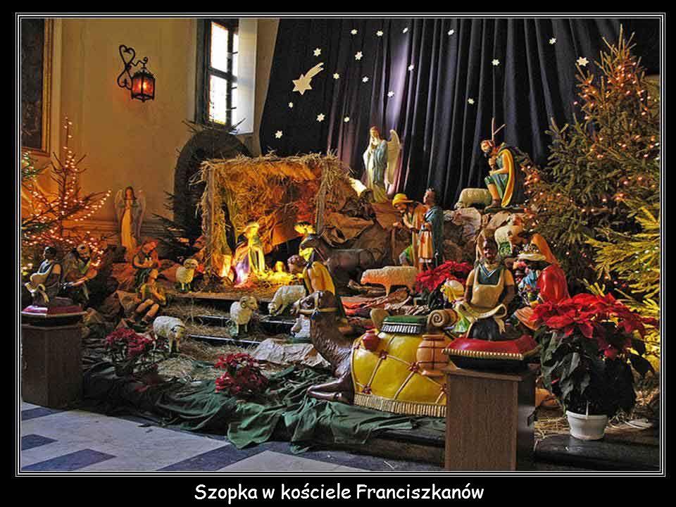 Szopka w kościele Franciszkanów
