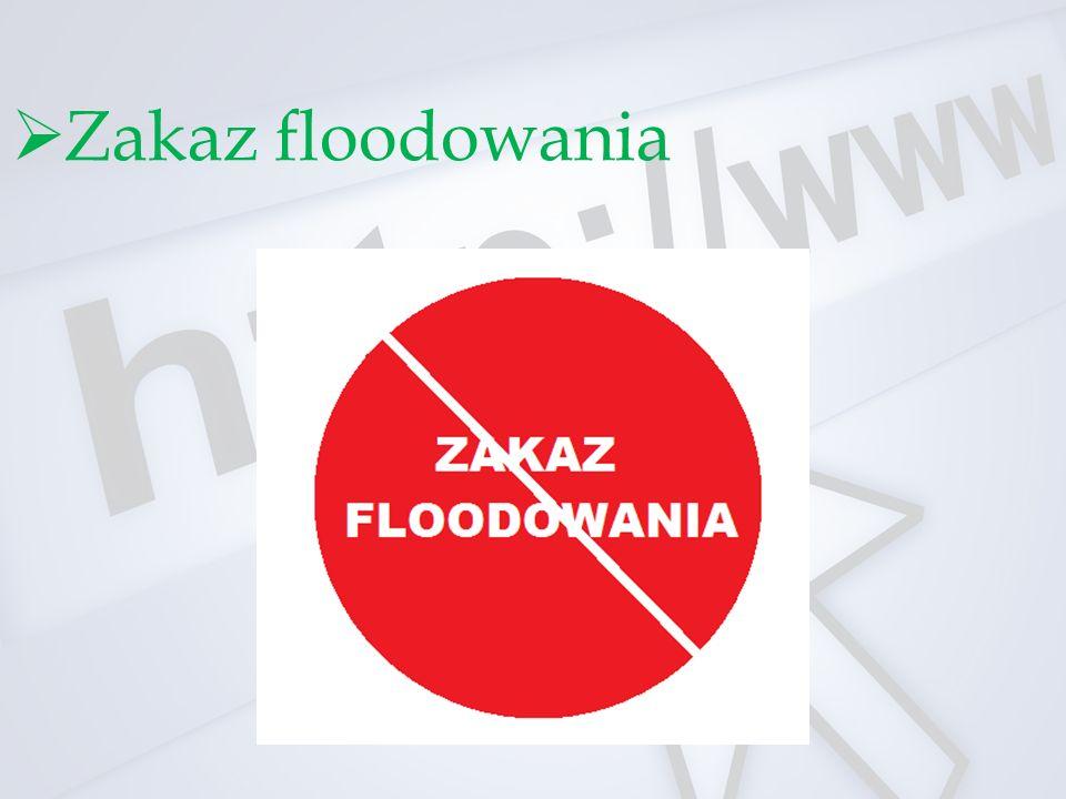 Zakaz floodowania