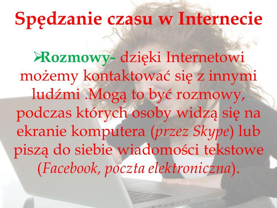 Spędzanie czasu w Internecie
