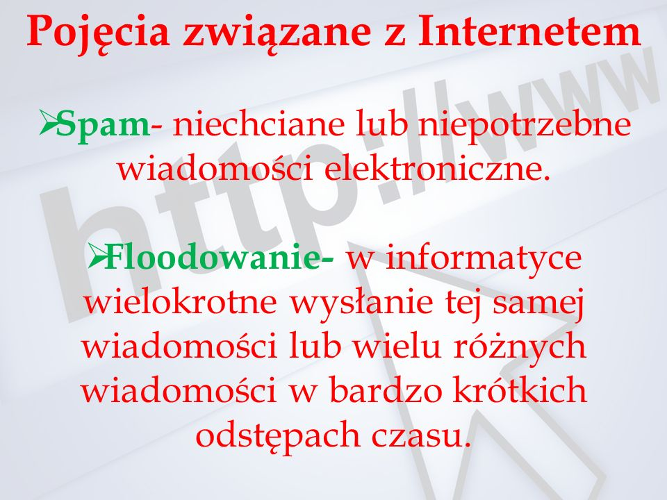 Pojęcia związane z Internetem