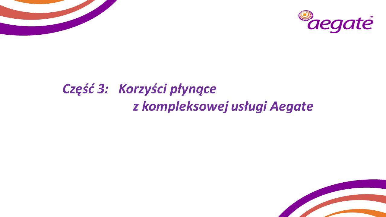 Część 3: Korzyści płynące z kompleksowej usługi Aegate
