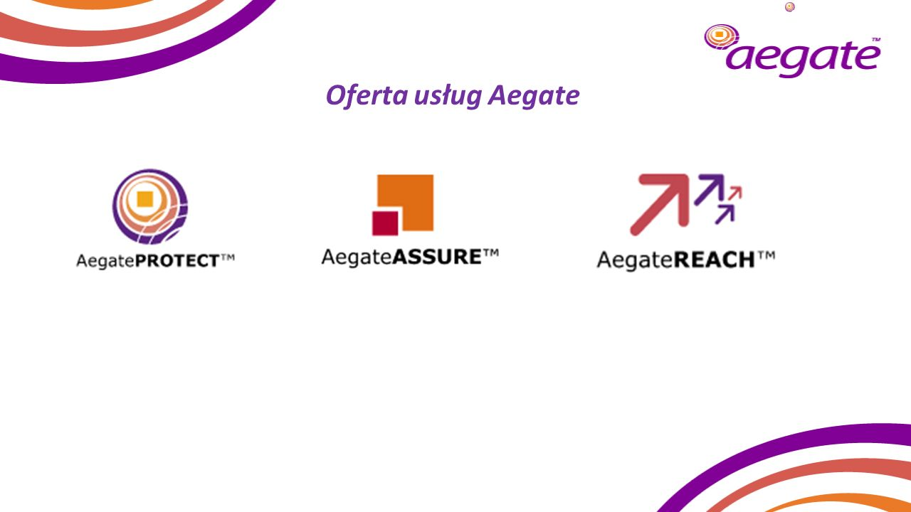 Oferta usług Aegate 21 Introduces the Aegate three service offerings