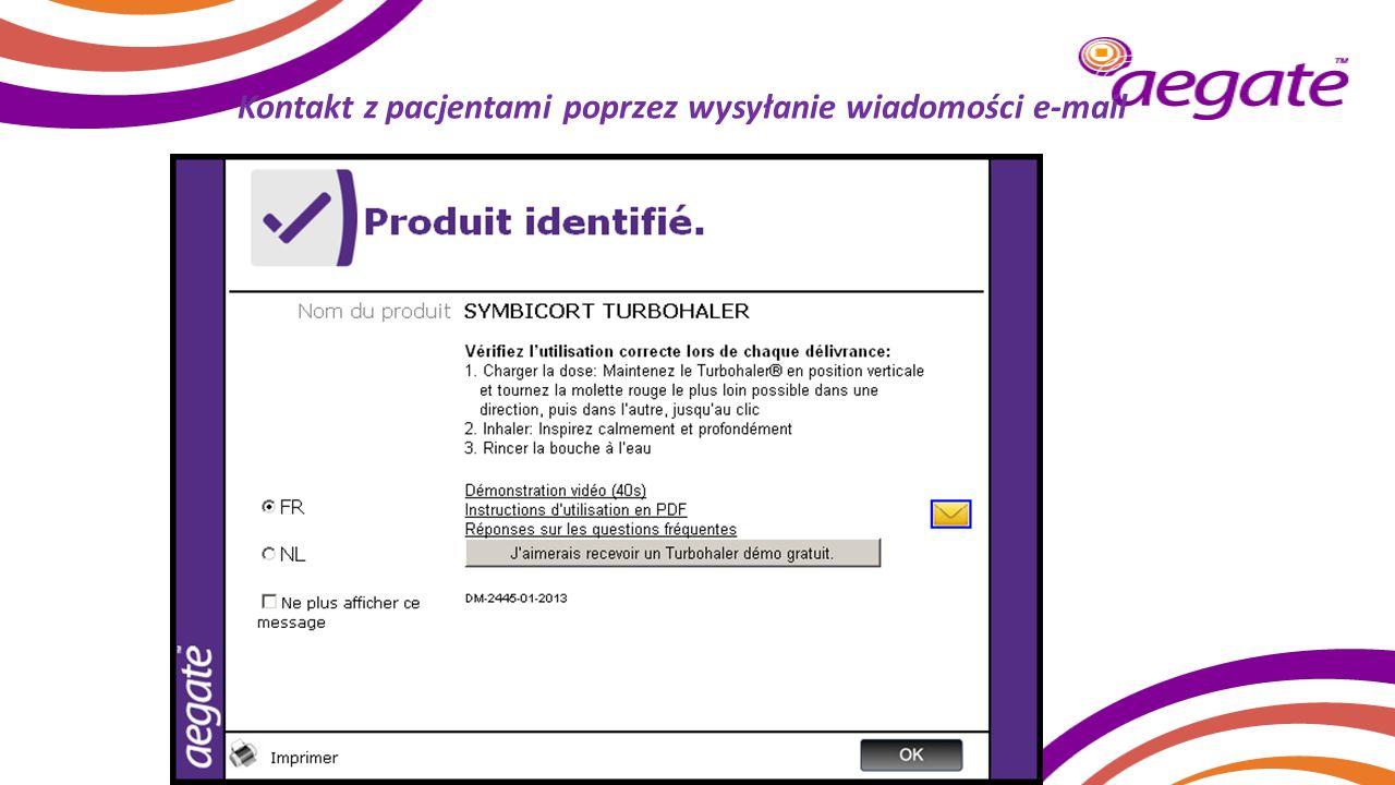 Kontakt z pacjentami poprzez wysyłanie wiadomości e-mail