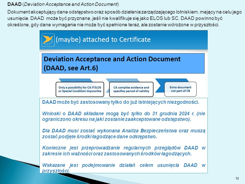 DAAD (Deviation Acceptance and Action Document)