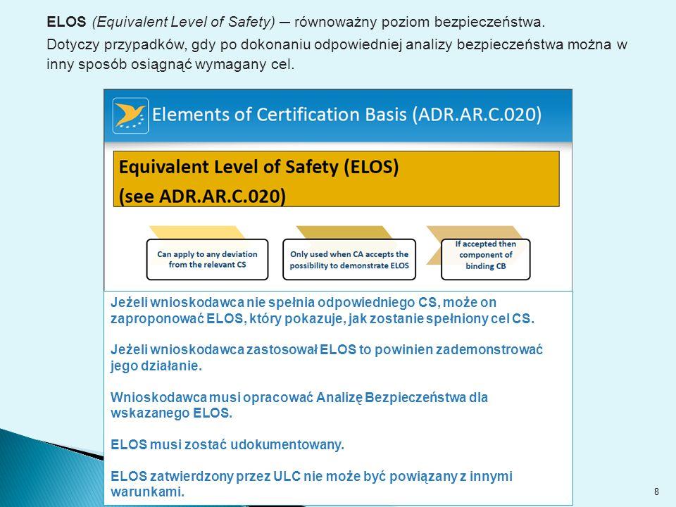 ELOS (Equivalent Level of Safety) ─ równoważny poziom bezpieczeństwa.