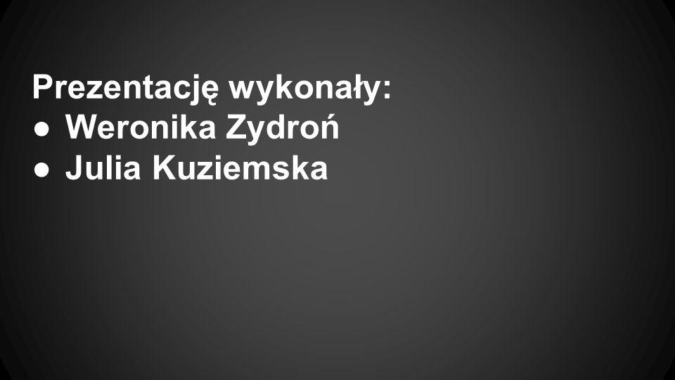 Prezentację wykonały: Weronika Zydroń Julia Kuziemska