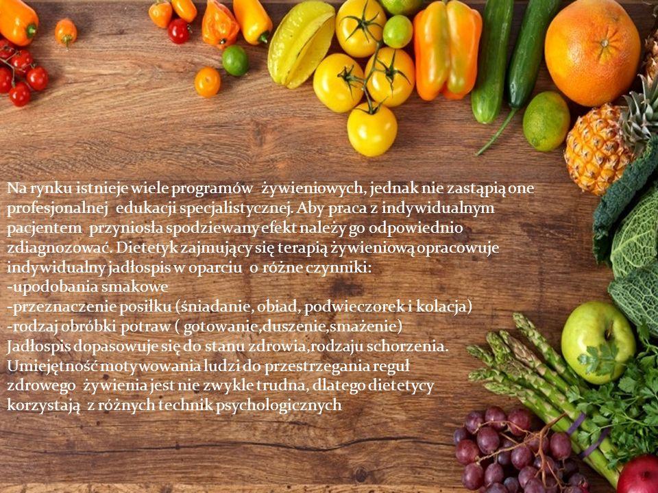Na rynku istnieje wiele programów żywieniowych, jednak nie zastąpią one