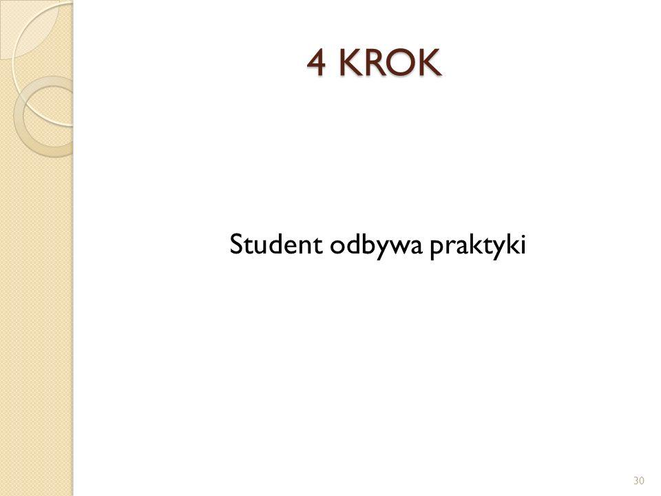 Student odbywa praktyki