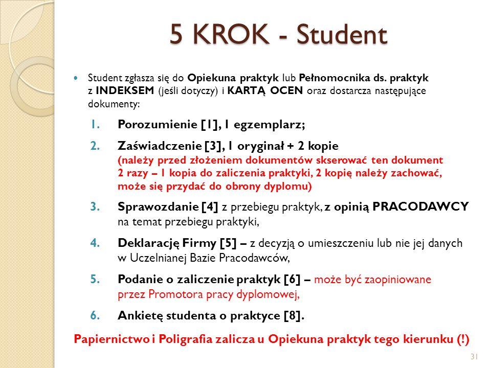 Papiernictwo i Poligrafia zalicza u Opiekuna praktyk tego kierunku (!)