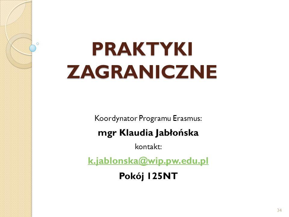 Koordynator Programu Erasmus: