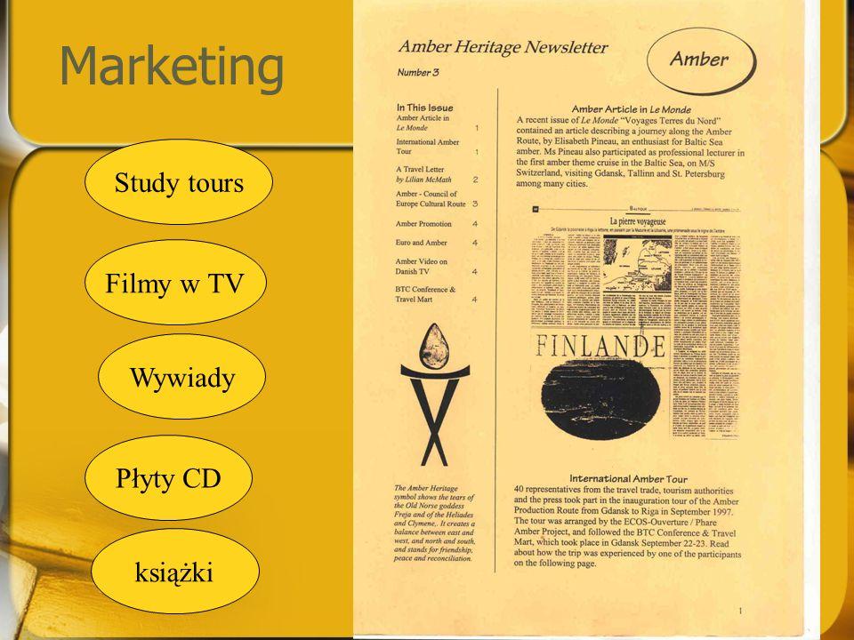 Marketing Study tours Filmy w TV Wywiady Płyty CD książki