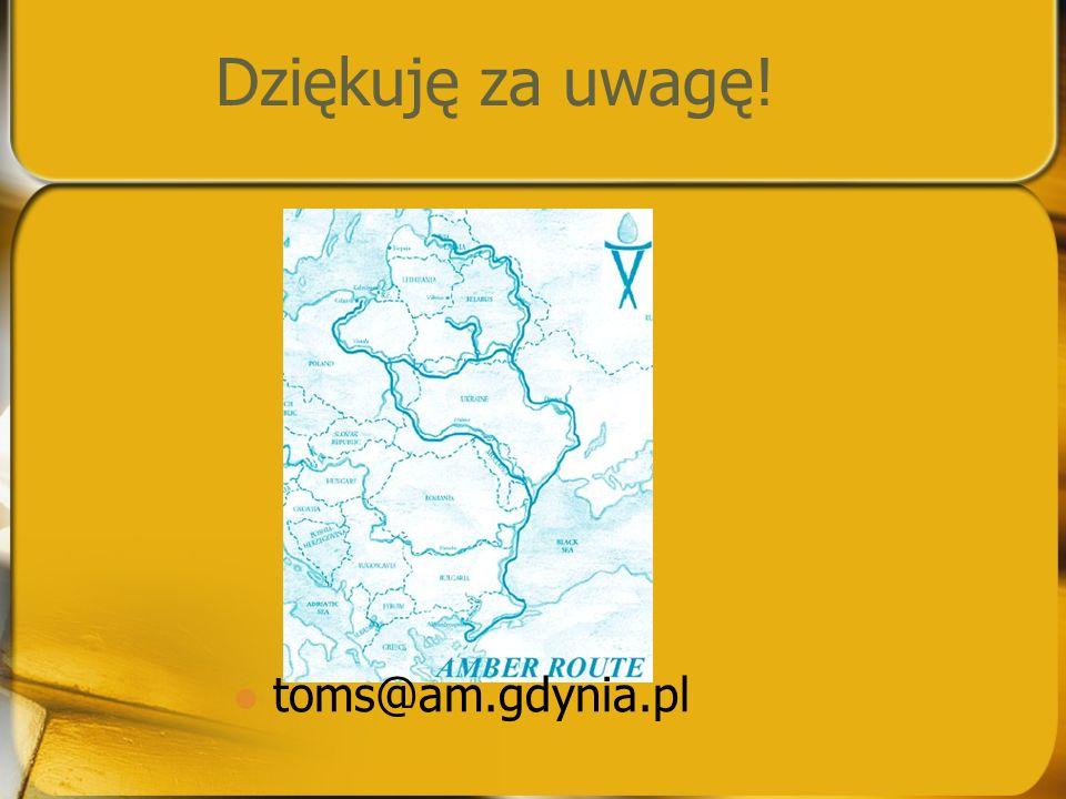 Dziękuję za uwagę! toms@am.gdynia.pl