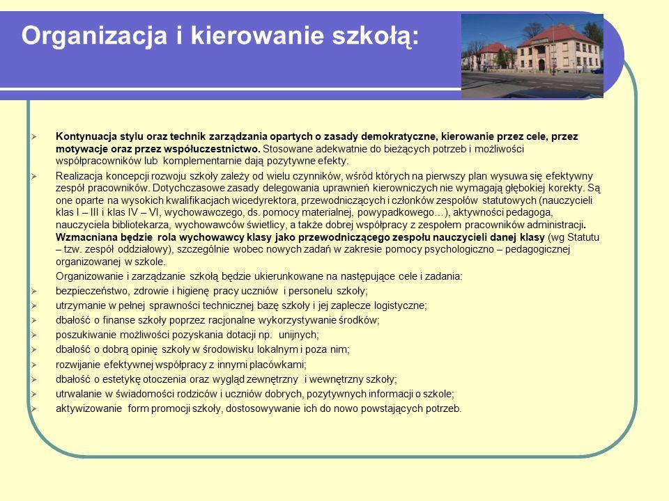 Organizacja i kierowanie szkołą: