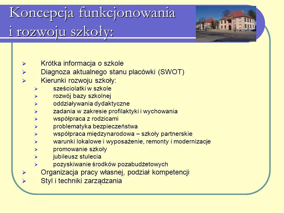 Koncepcja funkcjonowania i rozwoju szkoły: