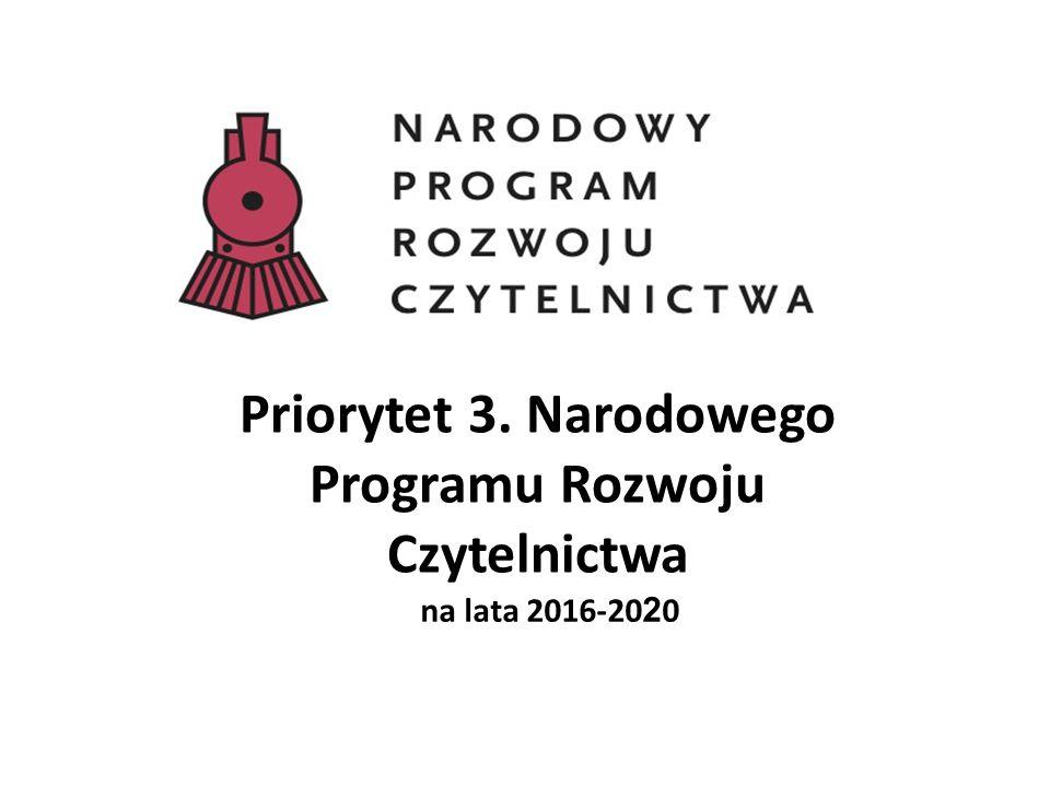 Priorytet 3. Narodowego Programu Rozwoju Czytelnictwa