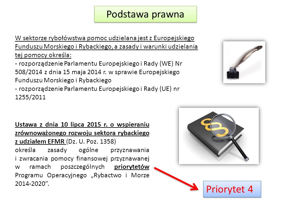 Podstawa prawna Priorytet 4