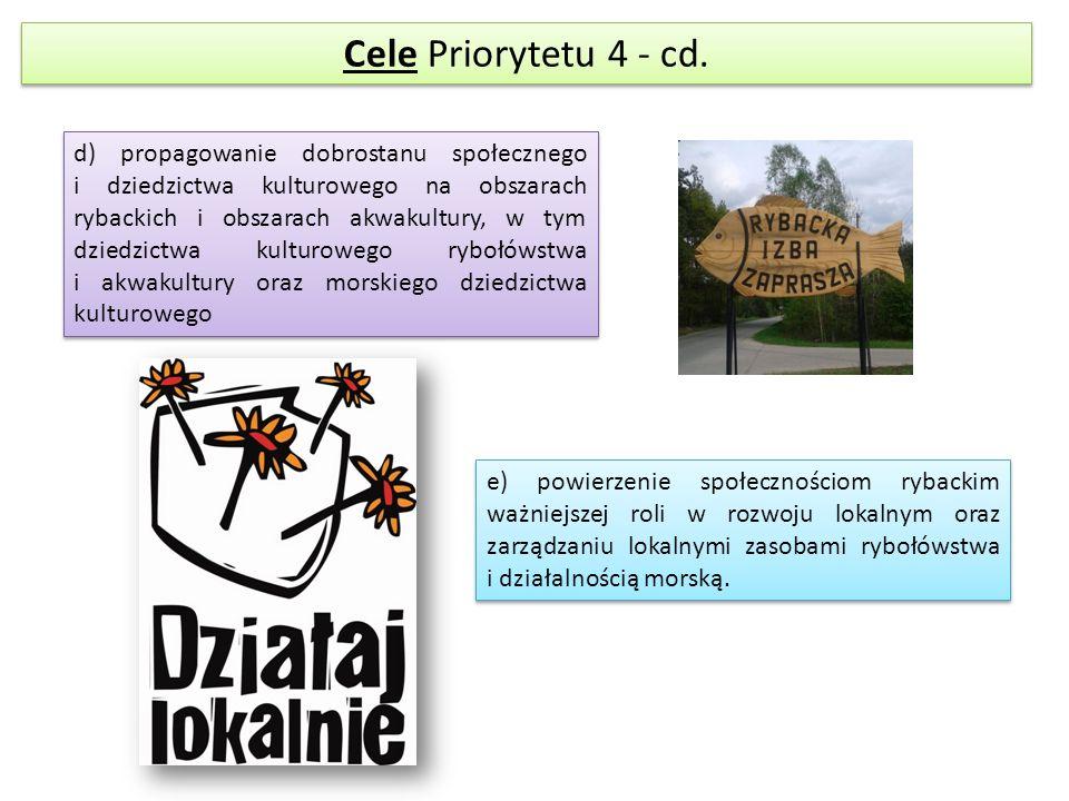 Cele Priorytetu 4 - cd.