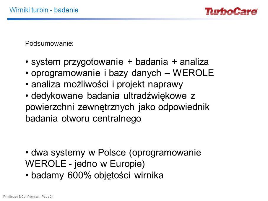 system przygotowanie + badania + analiza