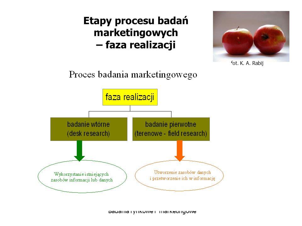 Etapy procesu badań marketingowych – faza realizacji