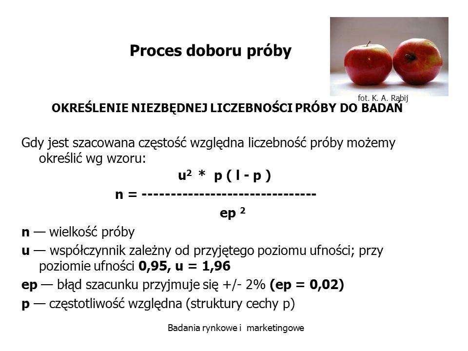 n = ------------------------------- ep 2 n — wielkość próby