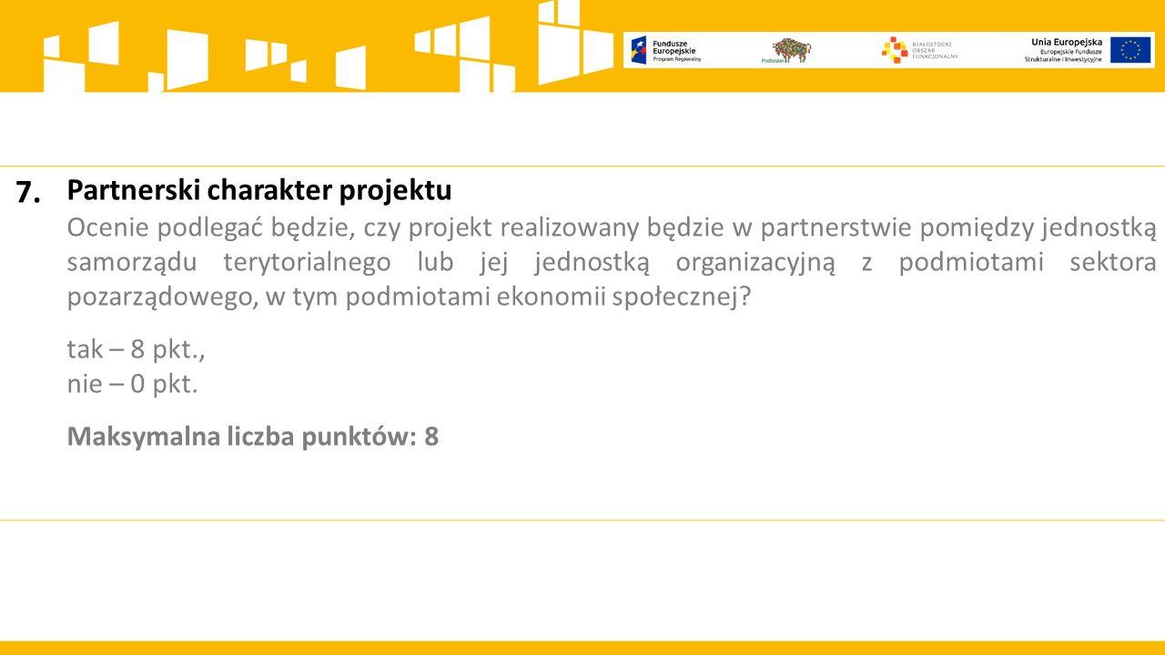 7. Partnerski charakter projektu