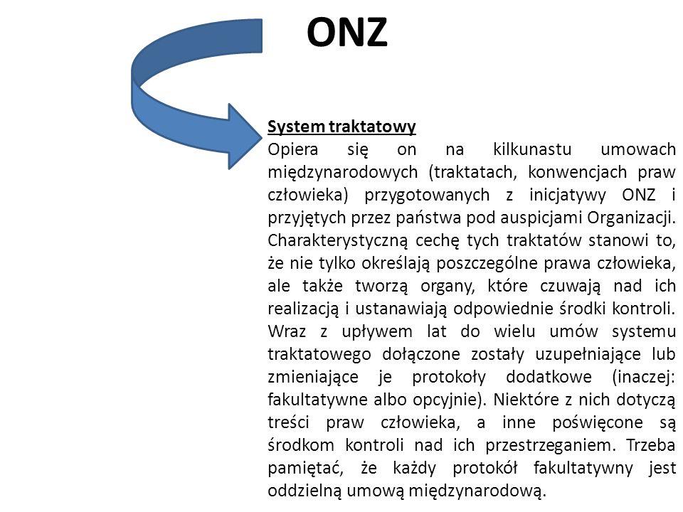 ONZ System traktatowy.