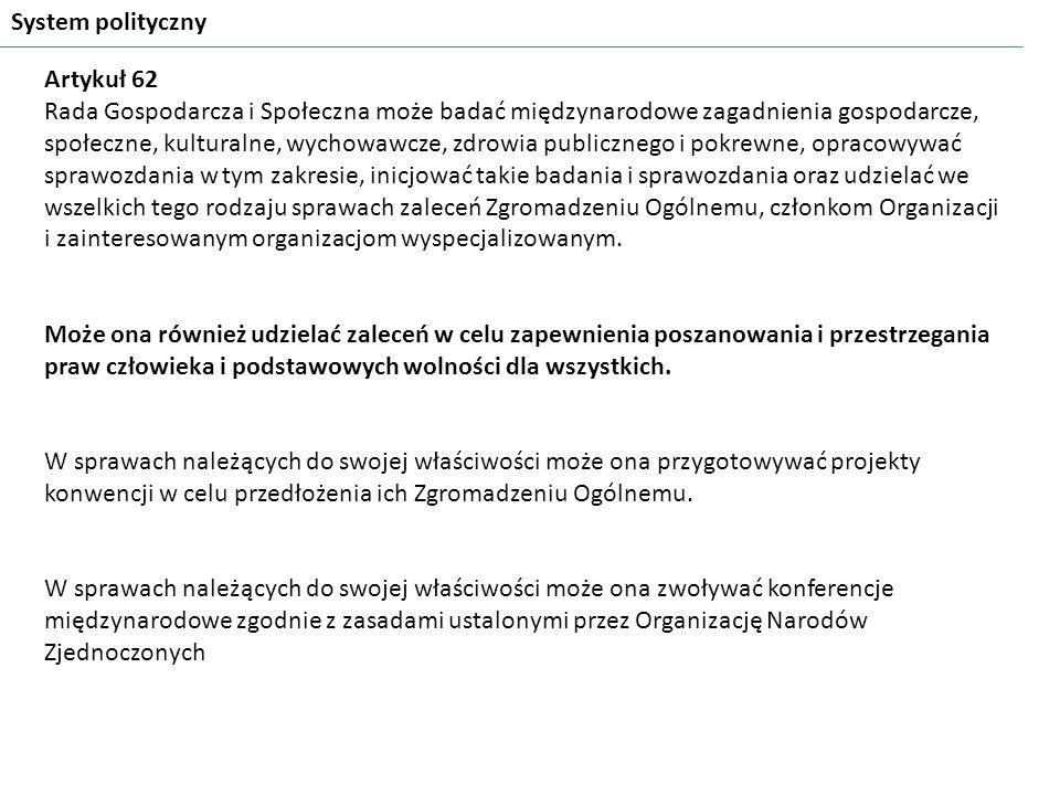 System polityczny Artykuł 62.