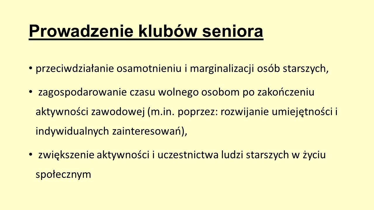 Prowadzenie klubów seniora