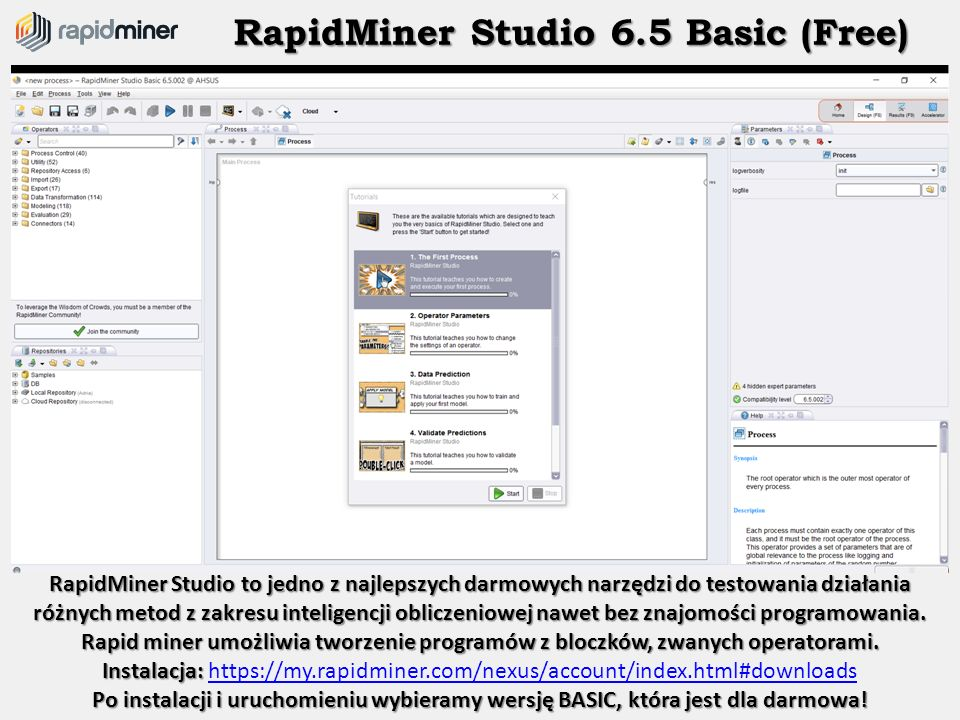 RapidMiner Studio 6.5 Basic (Free)