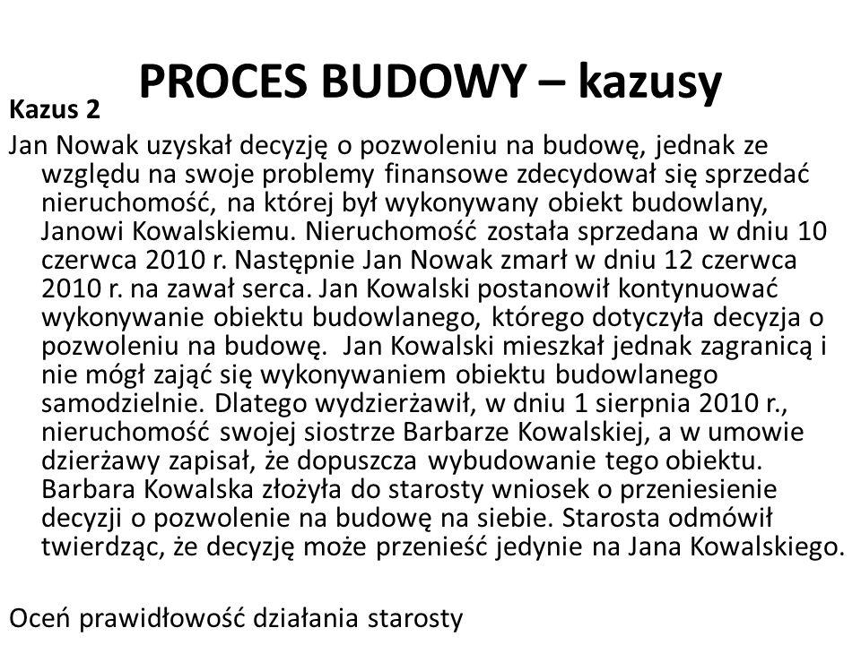 PROCES BUDOWY – kazusy